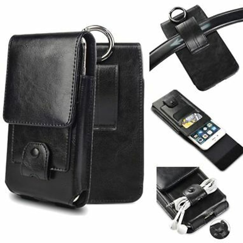 Genuine Leather Phone Pouch Samsung Galaxy S8 S9 S10 Plus