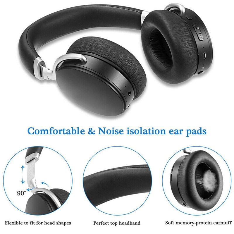 Wireless Bluetooth Headphone Foldable