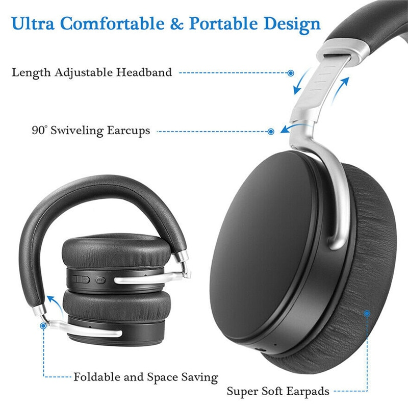 Wireless Bluetooth Headphone Foldable Headset with Microphone