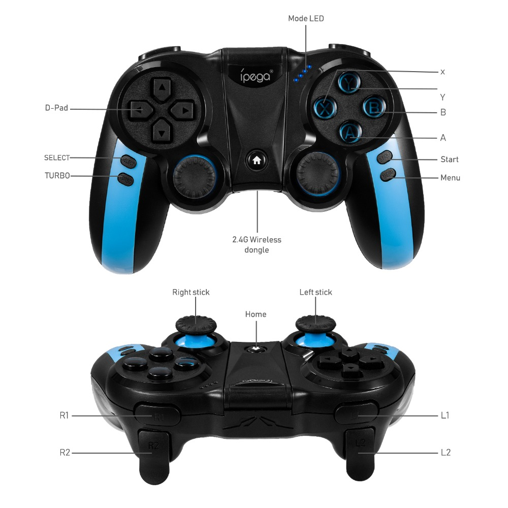 Controller Gamepad Game Joystick Bluetooth Wireless