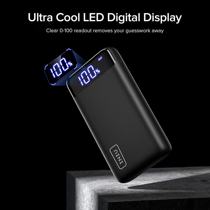 20000mAh INIU Power Bank LED Portable Charging