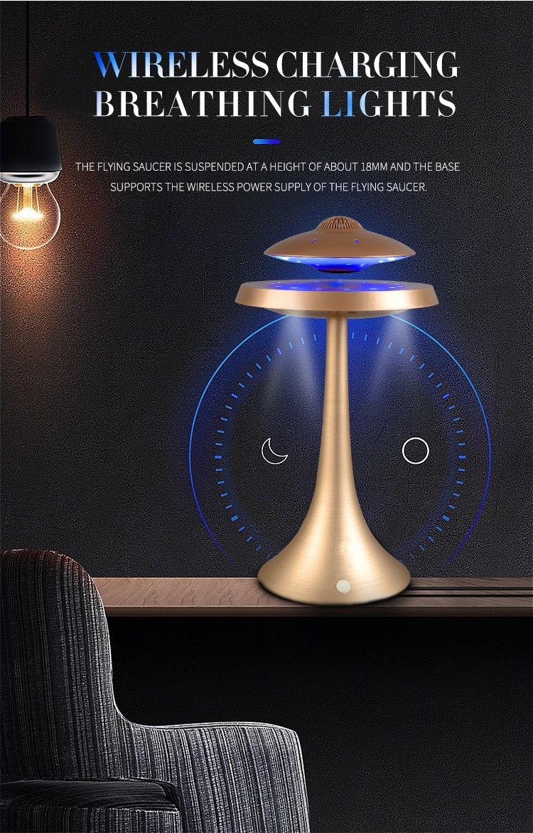UFO Magnetic Levitation Stereo Bluetooth Speakers Fashion Lamp